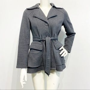 Sebby Collection Women's Fleece Jacket Peplum Sz S